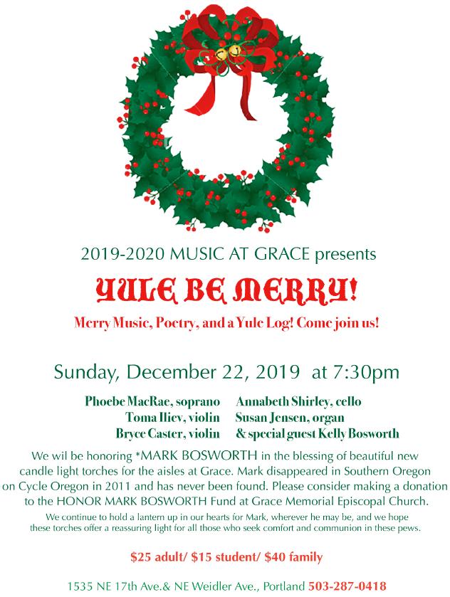 Yule Be Merry flyer
